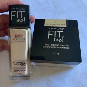Maybelline Fit Me Foundation & Powder